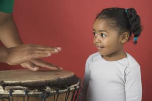 Stress release through  drumming